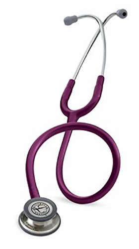 3M Littmann Classic III Stethoscope, Basic Adult Blood Pressure Cuff, Tuning Fork, Percussion Hammer, Tape Measure, ID Tag, Otoscope/Penlight, and Bandage Sissors (Plum-5831)