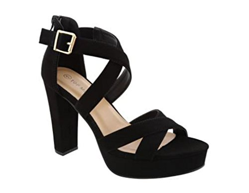 Closed Back Platform Sandal - 1