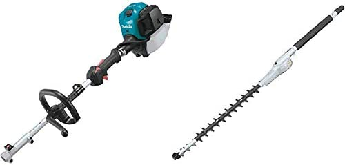 Makita EX2650LH 25.4 cc MM4 4-Stroke Couple Shaft Power Head and EN410MP 20 Inches Double-Sided Hedge Trimmer Couple Shaft Attachment