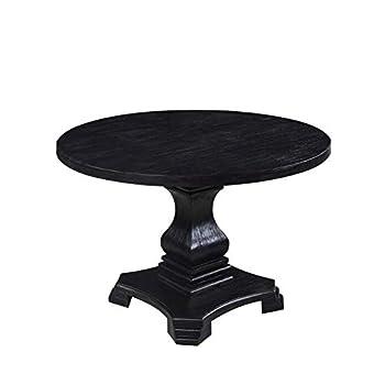 Dayton Round Dining Table Antique Black
