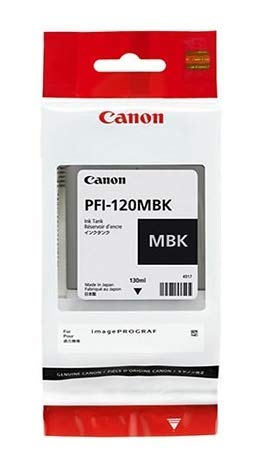 Canon PFI-120MBK Pigment Matte Black Ink Tank 130ml by CES - Pigment Black Ink Tank Matte