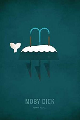 Posterazzi Moby Dick Minimal Poster Print by by Christian Jackson (12 x 18) from Posterazzi