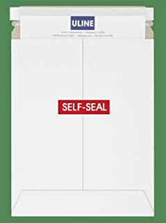 """product image for 10 PACK - ULINE BRAND 9.75 x 12.25"""" White Self-Seal Stay Flats #5"""