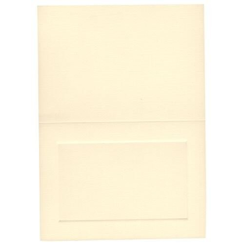 JAM Paper Blank Foldover Cards - 4Bar / A1 Size - 3 1/2'' x 4 7/8'' - Ivory Linen Panel - 500/box by JAM Paper