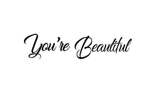 BERRYZILLA You're Beautiful Decal v2 Quote Hello Mirror Living Room Vinyl Carving Wall Sticker for Gorgeous Home Window Decoration Stickerciti Brand by BERRYZILLA (Image #2)