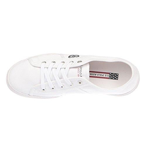 U.S. POLO Sneaker Hombre zapatos con cordones - mod. SOLAN4189S7-C1 blanco