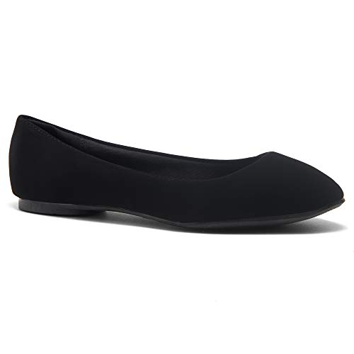 Casual Ballerina - Herstyle Ever Memory Women's Classic Flats Memory Foam Cushioned Soft Daily Slip-on Casual Shoes Round Toe Ballerina Walking Flats Shoes BlackIM 11.0