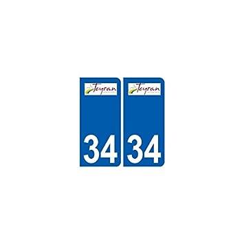 34 teyran city sticker plate logo stickers