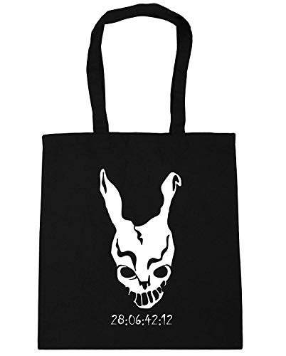 WENNUNA Donnie Darko Frank Mask Countdown Tote Shopping Gym Beach Bag 42cm x38cm, 10 litres