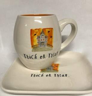 Mug & Plate Halloween Set Haunted House Trick or Treat Mug by Rae Dunn by Magenta -