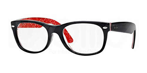 Ray-Ban RX5184 New Wayfarer Eyeglasses Top Black On Texture Red - Wayfarer New Rx5184