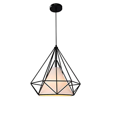 HHCC Colgante de luz Vintage, Forma de Diamante, lámpara de araña ...