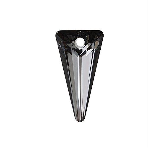 Swarovski Crystal Triangle (Swarovski Crystal, #6480 Spike Pendant 18mm, 1 Piece, Crystal Silver Night)