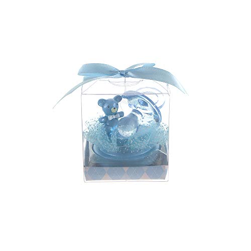 (Mega Favors Keepsake Figurine 12 pcs Large Blue Pacifier with Teddy Bear | Awesome Decorations or Party Favors | for Pregnancy Announcements, Gender Reveals, Birthday and Special Celebrations)
