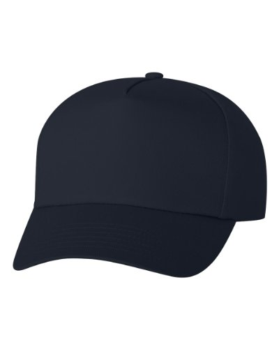 Valucap Twill - Valucap Men's Five-Panel Twill Cap 8869 Adjustable Navy