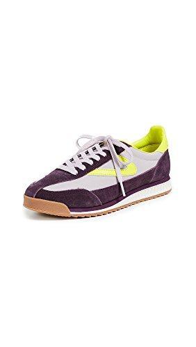 Tretorn Women's Rawlins2 Sneaker, Eggplant/Lilac/Yellow