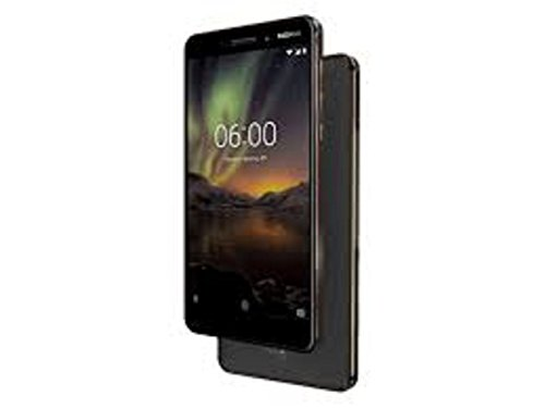 """Nokia 6.1 (2018) - 32 GB - Unlocked Smartphone (AT&T/T-Mobile) - 5.5"""" Screen - Black"""