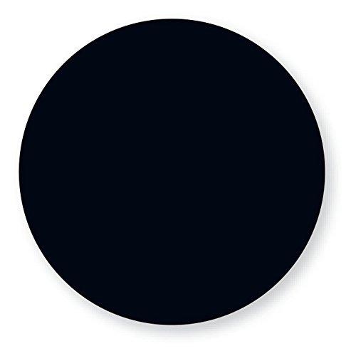 "DayMark IT112332 DuraMark Circle Permanent Label, 1"" Diameter, Black (Roll of 1000)"