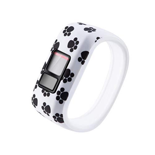 Sodoop Replacement Watch Band for Garmin Vivofit JR JR2/vivofit 3, New Child Pattern Small Silicone Wristband Strap for Garmin Vivofit JR JR2/Vivofit 3 Smartwatch - Clip Watch Iii