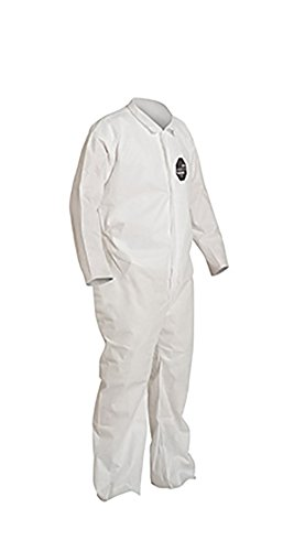 DuPont ProShield 10 PB120S Protective Coverall with Serged Seams, Disposable, Open Cuff and Ankles, X-Large, White (Pack of 25) by DuPont (Image #2)
