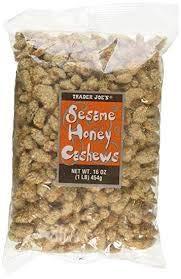Trader Joe's Sesame Honey Cashews 1 lb Bag (Pack of 2) ()