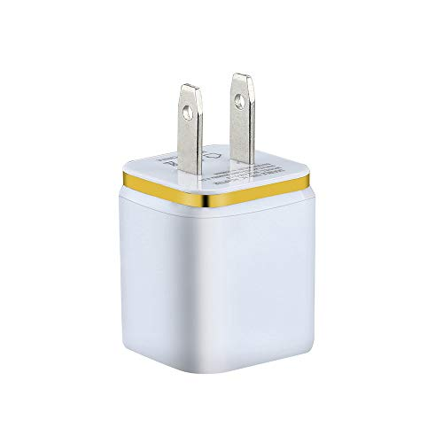 (❤️Gmgod❤️5V / 2A Dual USB Charger Fast Charging for iPhone Wall AdapterPlug (Yellow))