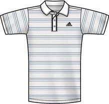 Adidas - Camiseta de pádel para hombre, tamaño XS, color blanco/bright azul