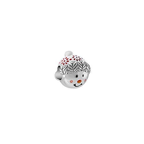 Chamilia Cuddly Snowman Bead - Enamel Charm, Multi, One Size