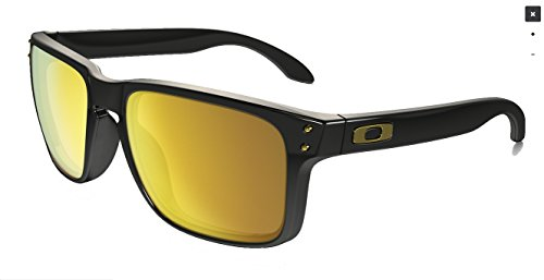 Oakley Holbrook Sunglasses,  Polished Black / 24K Gold Iridium, One ()