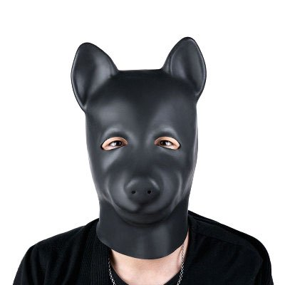 Bantie Fetish Head Mask Puppy Dog Slaves Hood Couple Flirting Toys Leather Bondage Role Play Mask Made of Safety Quality Natural rubber for Adult Games Sex Toy