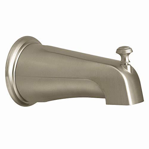 (Moen 3808BN Kingsley Replacement Shower Tub Diverter Spout, Brushed Nickel (Renewed))