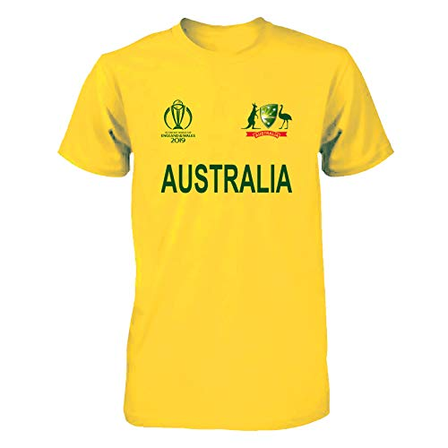 Men Women Cricket World Cup 2019 Shirt All Teams India Pakistan Australia South Africa England BANGLADES Newzealand Fan Supporters T Shirt 100% Cotton (Australia, Medium) (Australia Cricket Shirts T)