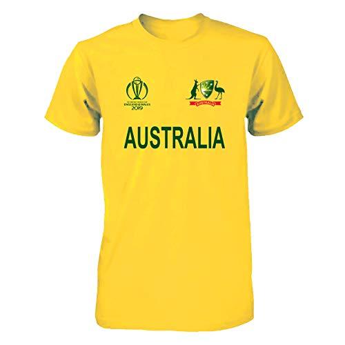 Men Women Cricket World Cup 2019 Shirt All Teams India Pakistan Australia South Africa England BANGLADES Newzealand Fan Supporters T Shirt 100% Cotton (Australia, Medium) (Australia Cricket Shirts T)