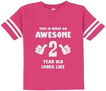 This is What an Awesome 2 Year Old Looks Like Funny Toddler Jersey T-Shirt