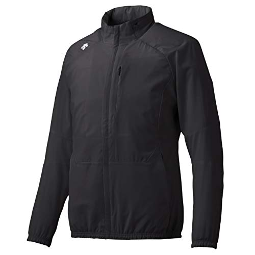 Descente Men's Packable Lightweight Water Repellent Hoodie Jacket Black