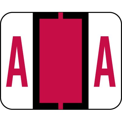 AMZfiling Alphabetic Color Code Labels, Compatible with Smead BCCR- Letter A, Red (120/Package) Alpha Sheet Style Labels