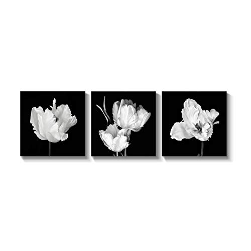 Pictures Flower Tulips (Grander Group Nature Art Bunch Flower Picture - Tulips Double Artwork Print for Wall Decor)