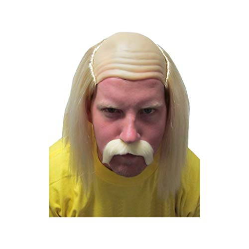 Hulk Hogan Hulkamania Wrestling Maniac Costume Wig]()