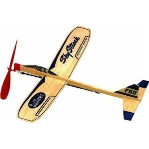 Guillow 6 Sky Streak Rubber Band Powered Balsa Toy Airplanes