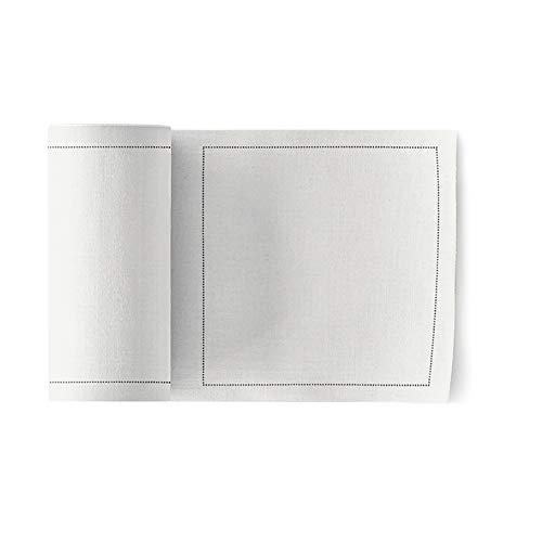 Basic Napkin - My Drap Basics Cotton Cocktail Napkin, 50 Per Roll, Cream, 4.3 x 4.3 Inch
