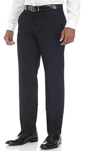 Nautica Men's Bi-Stretch Flat Front Pant, Black, 36W x 32L
