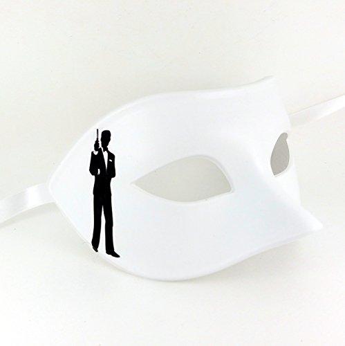 Samantha Peach James Bond Mens Venetian Masquerade Mask