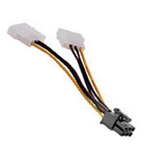 New pci express 4 pin to 6 pin power adapter amazon pci express 4 pin to 6 pin power adapter sciox Images