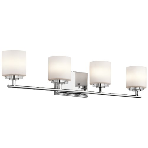 Classic Chrome Landscape Lighting - Kichler 45503CH O Hara Bath 4-Light Halogen, Chrome