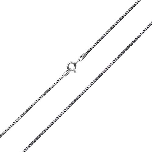 Wellme Sterling Silver 1mm/1.5mm Solid 925 Twister Rope Vintage Chain - Thailand Crafted Necklace - Thin and Strong 18'' 20'' 22'' (1.5mm Width 24 inches)