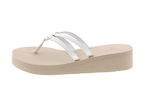 Style Patent Flops Wedge White Sandie Flip Ugg Straps Women's With qxRXgv