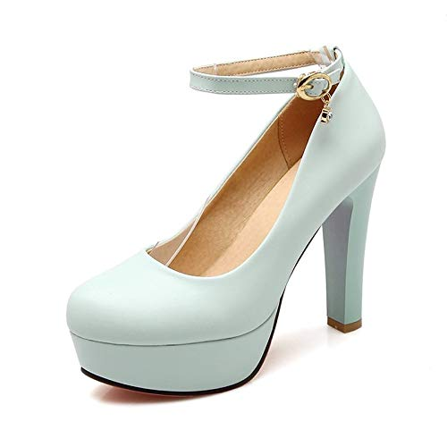 Tacones Blanco De Y De Stiletto Verano QOIQNLSN Zapatos Mujer Azul PU Rosa Talón Primavera Blue Poliuretano 7zHgBwHq