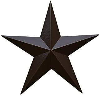 AMISH WARES 24 Inch Heavy Duty Metal Barn Star Painted Hammered Brown.