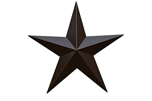 AMISH WARES 40 Inch Heavy Duty Metal Barn Star Painted Hammered Brown. ()