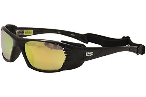 Liberty Sport Persuit 203 Shiny Black Sport Wrap Sunglasses 57mm